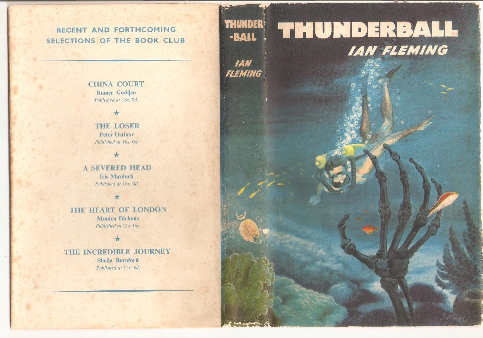 Ephemera from the James Bond Film and Book - Thunderball