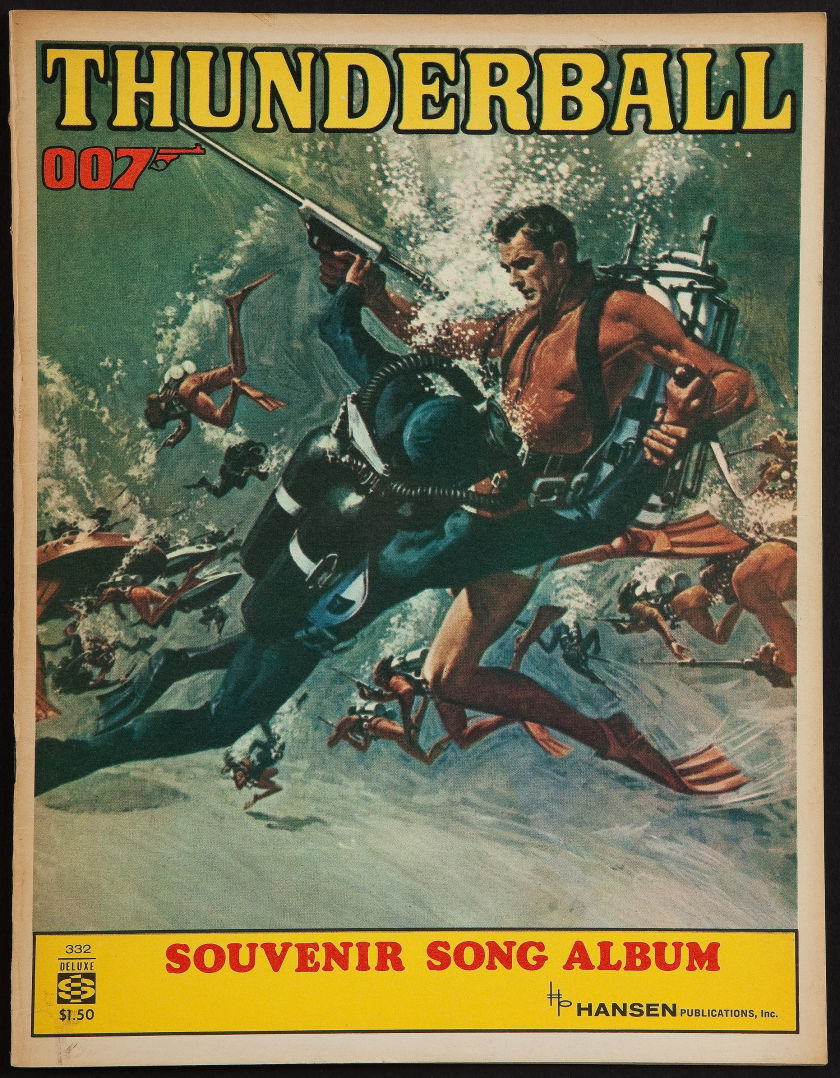 Thunderball (United Artists, 1965) Souvenir Song Book.