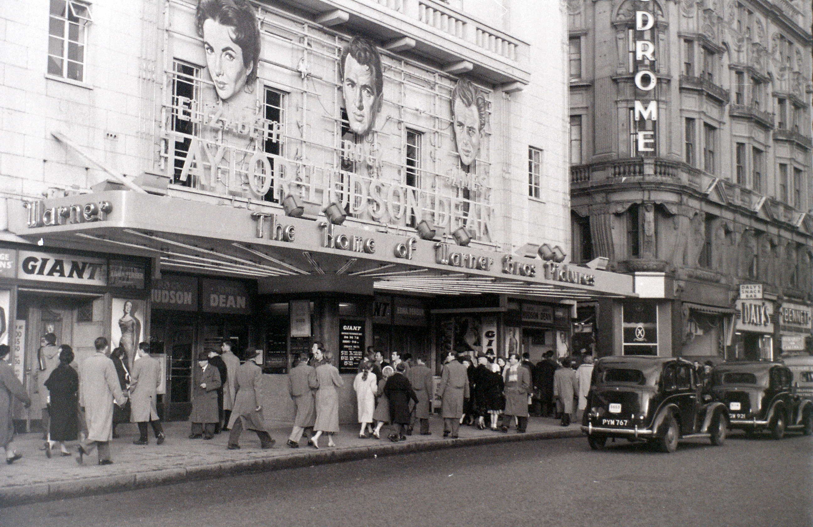Warner Cinema, Cranbourn Street, London, 3 January 1957.