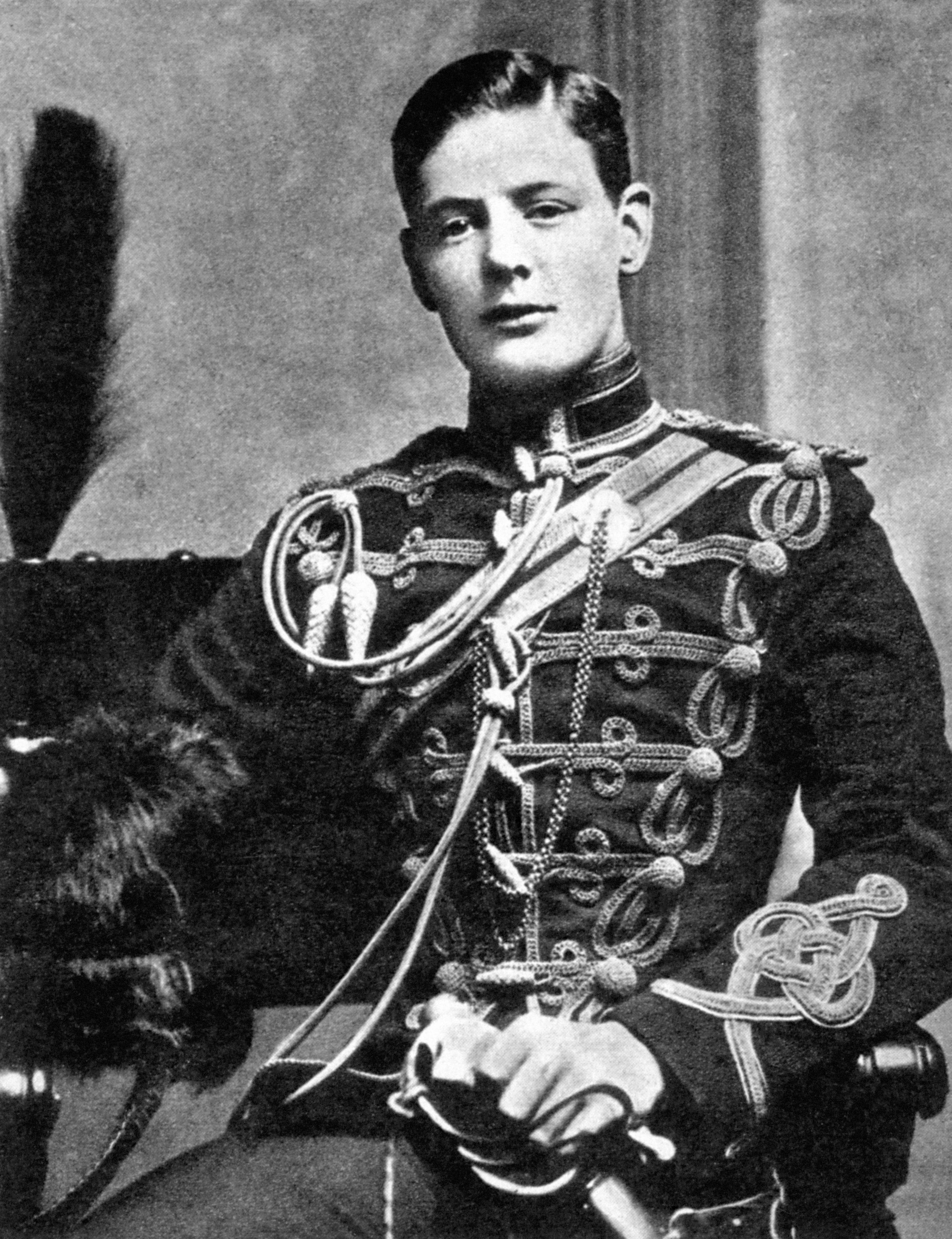 Winston Churchill as a Cornet (Second Lieutenant) in the 4th Queen's Own Hussars.