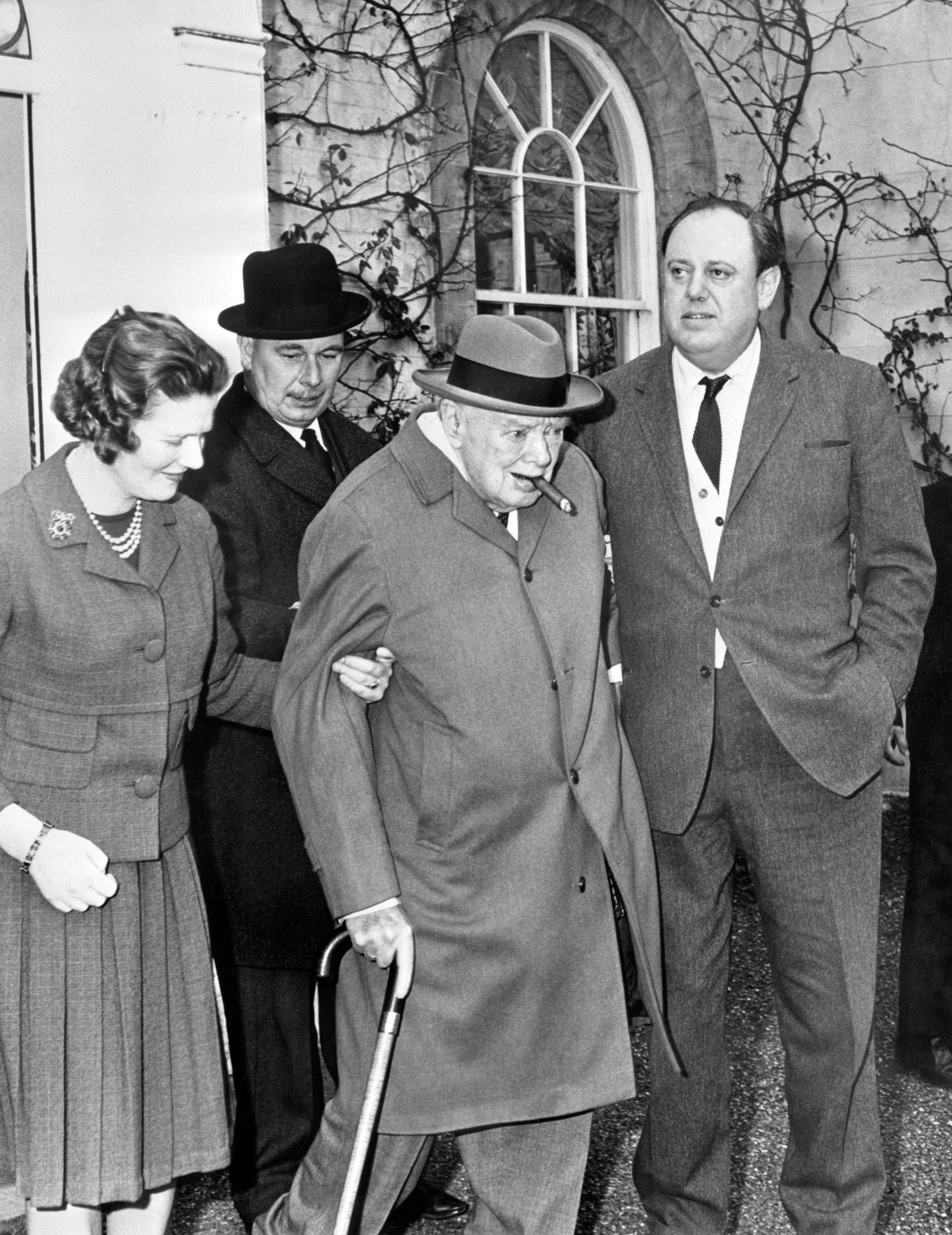 Politics - Sir Winston Churchill with Daughter - Hamsell Manor
