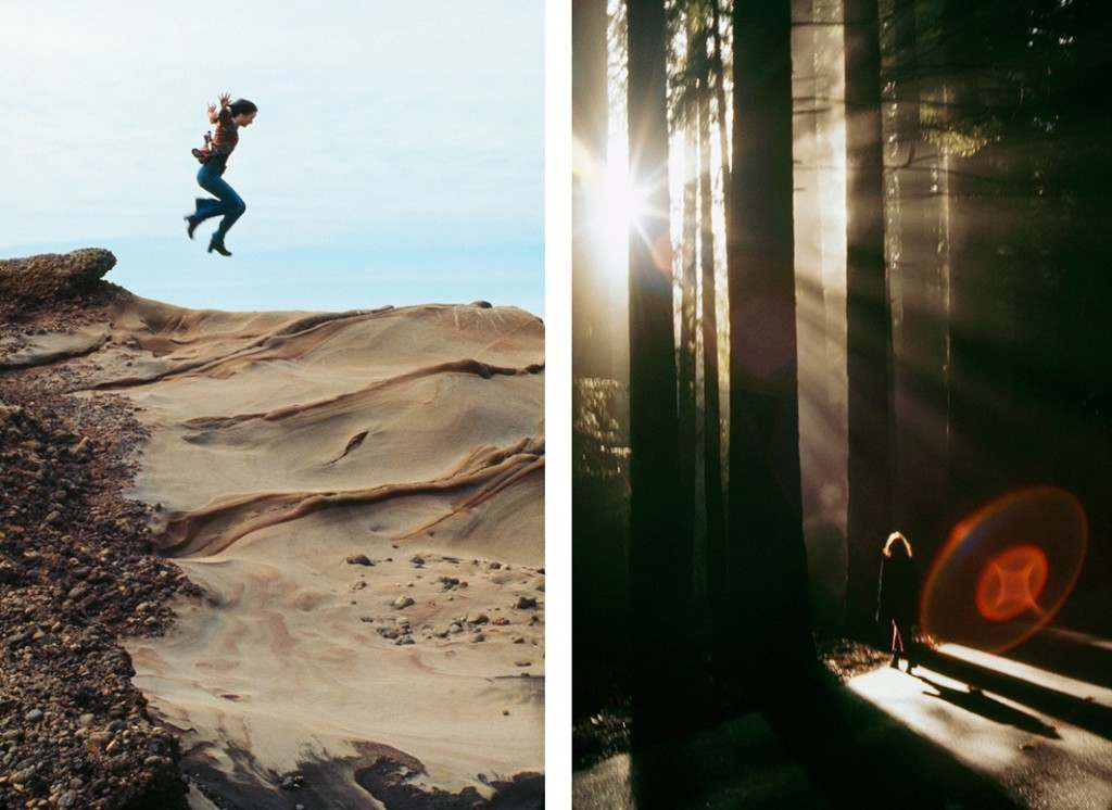 Left: Big Sur Plunge, March 1974. Right: The Redwood Alien, December 1983.
