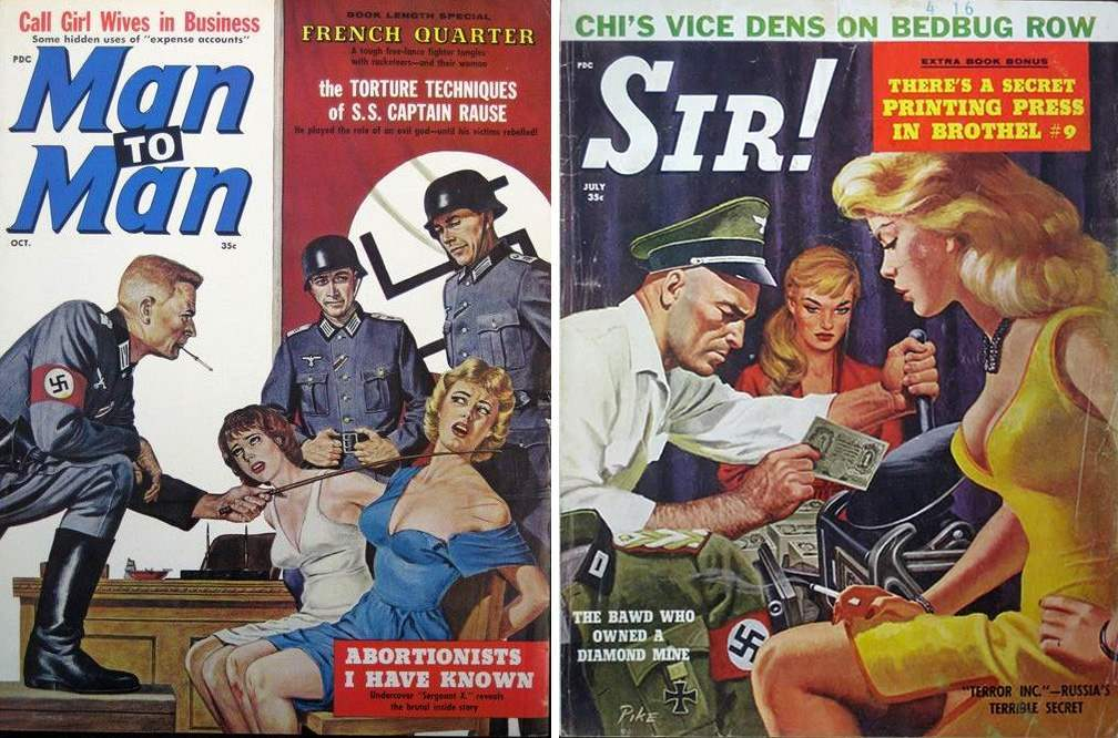 nazi pulp covers