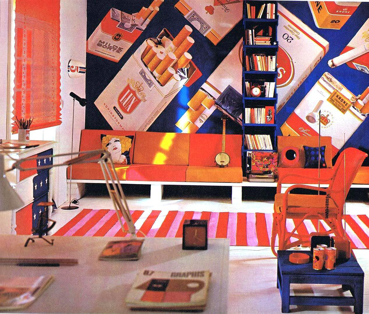 Trippy Home Decor: Magical Mystery Décor: Trippy Home Interiors Of The 60s