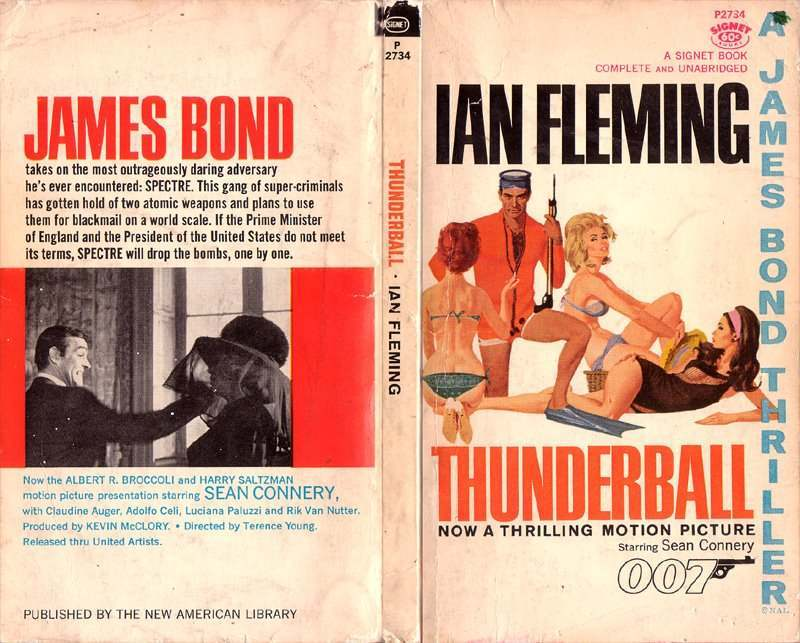 Thunderball Movie Tie in book, published by Signet in 1965.