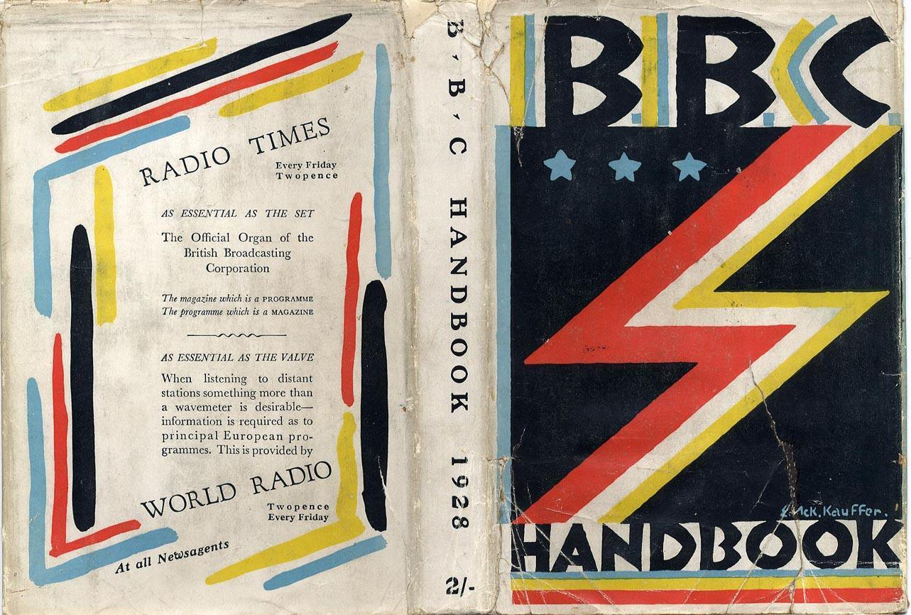 BBC Handbook, 1928. The jacket cover was designed by the American illustrator Edward McKnight Kauffer.