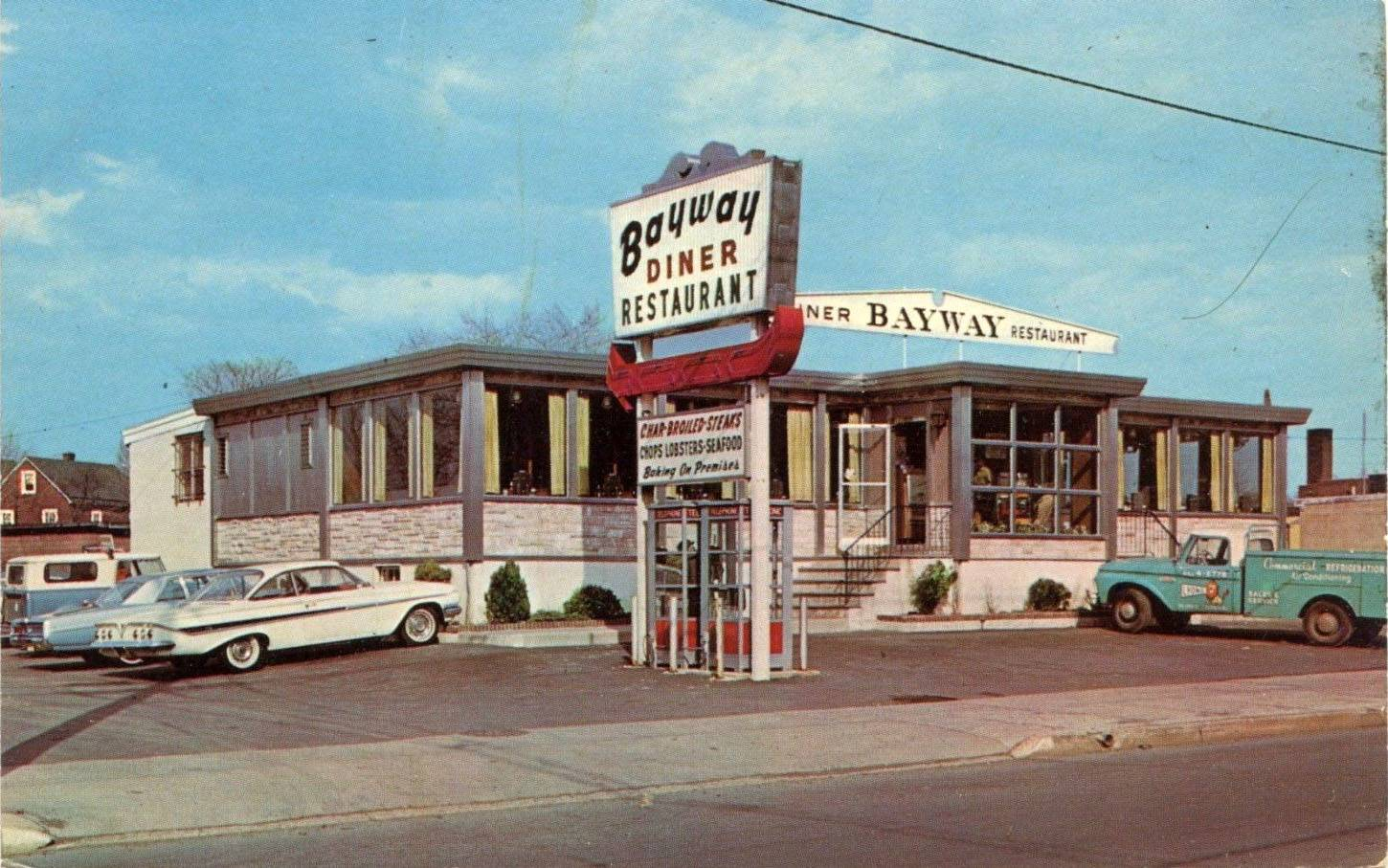 Bayway Diner & Restaurant - ELIZABETH NJ - c.1950