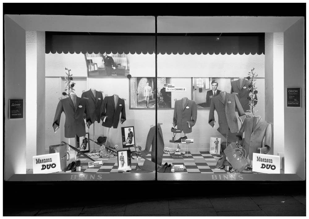 Binns Ltd., Newcastle window display 1960.