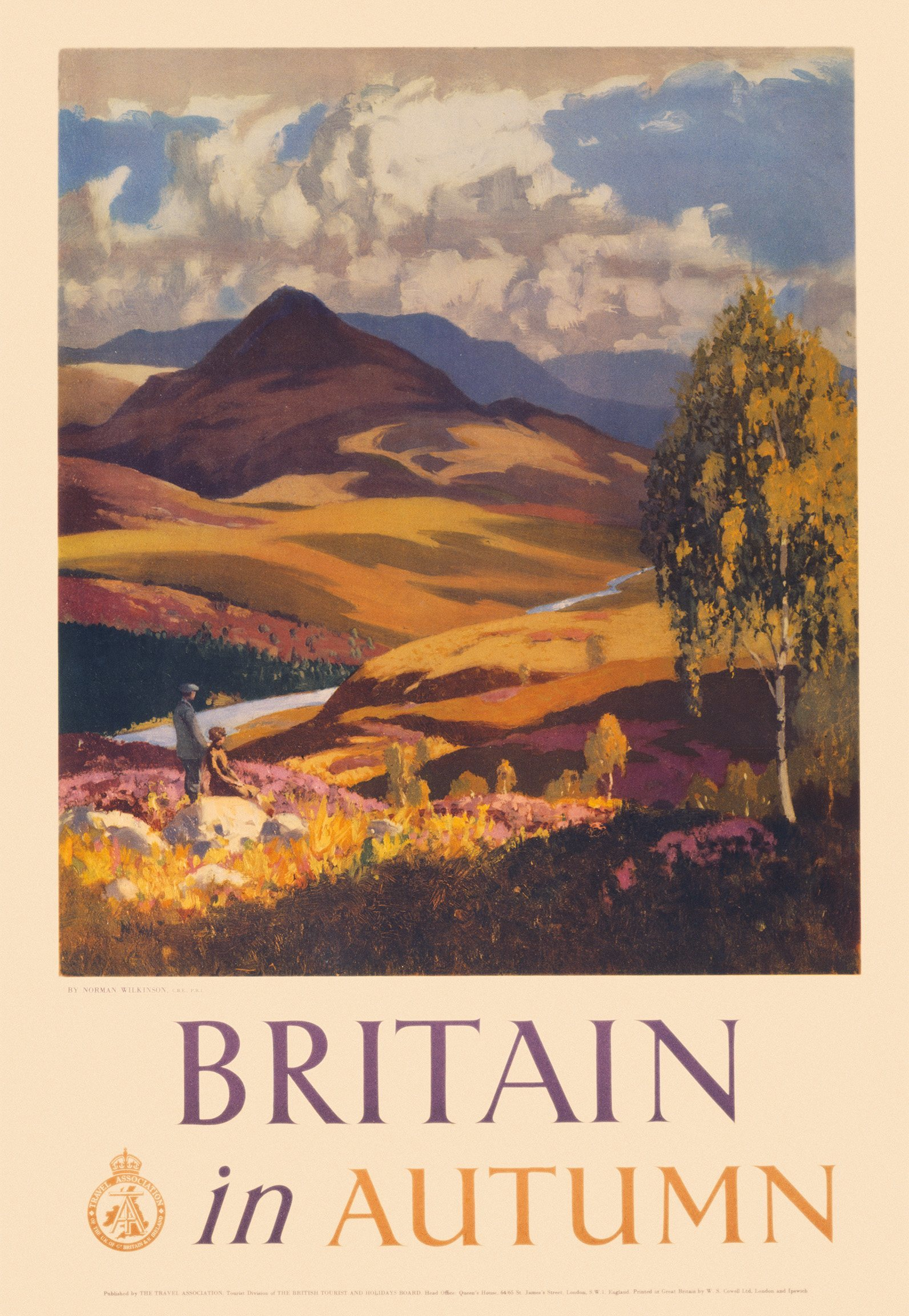 British Tourist and Holidays Board poster. Artwork by Norman Wilkinson.