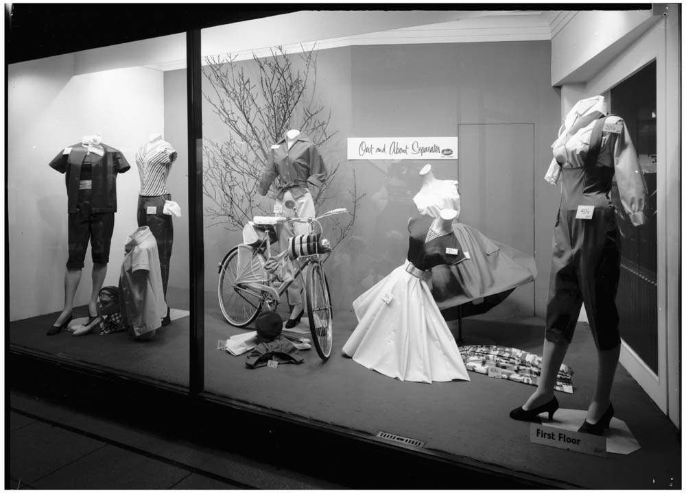 Fenwick's window display, Newcastle 1958.