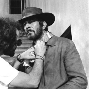 Leonard Nimoy During Filming of The 1971 Movie Catlow in Almeria, Spain