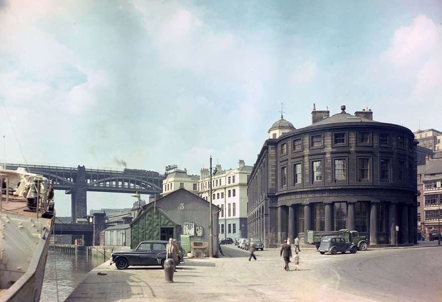 Guildhall, Newcastle upon Tyne and the surrounding area, April 1958.