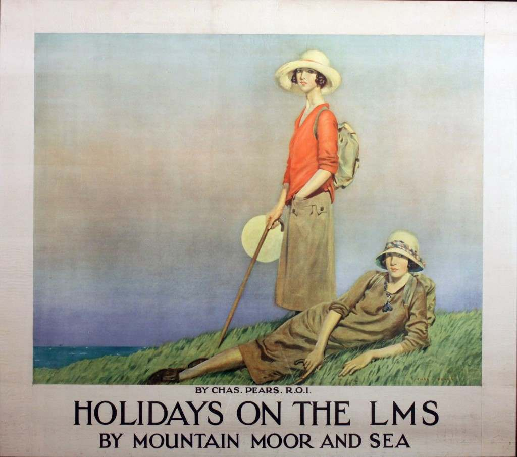 Holidays on the LMS, illustrated by Chas Pears.