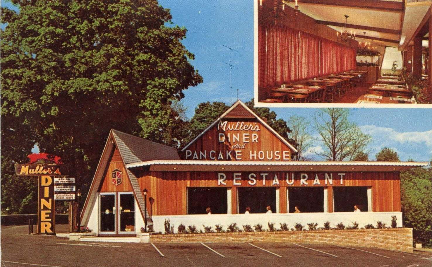 Muller's Diner - NORTH of STROUDSBURG PA - 1973