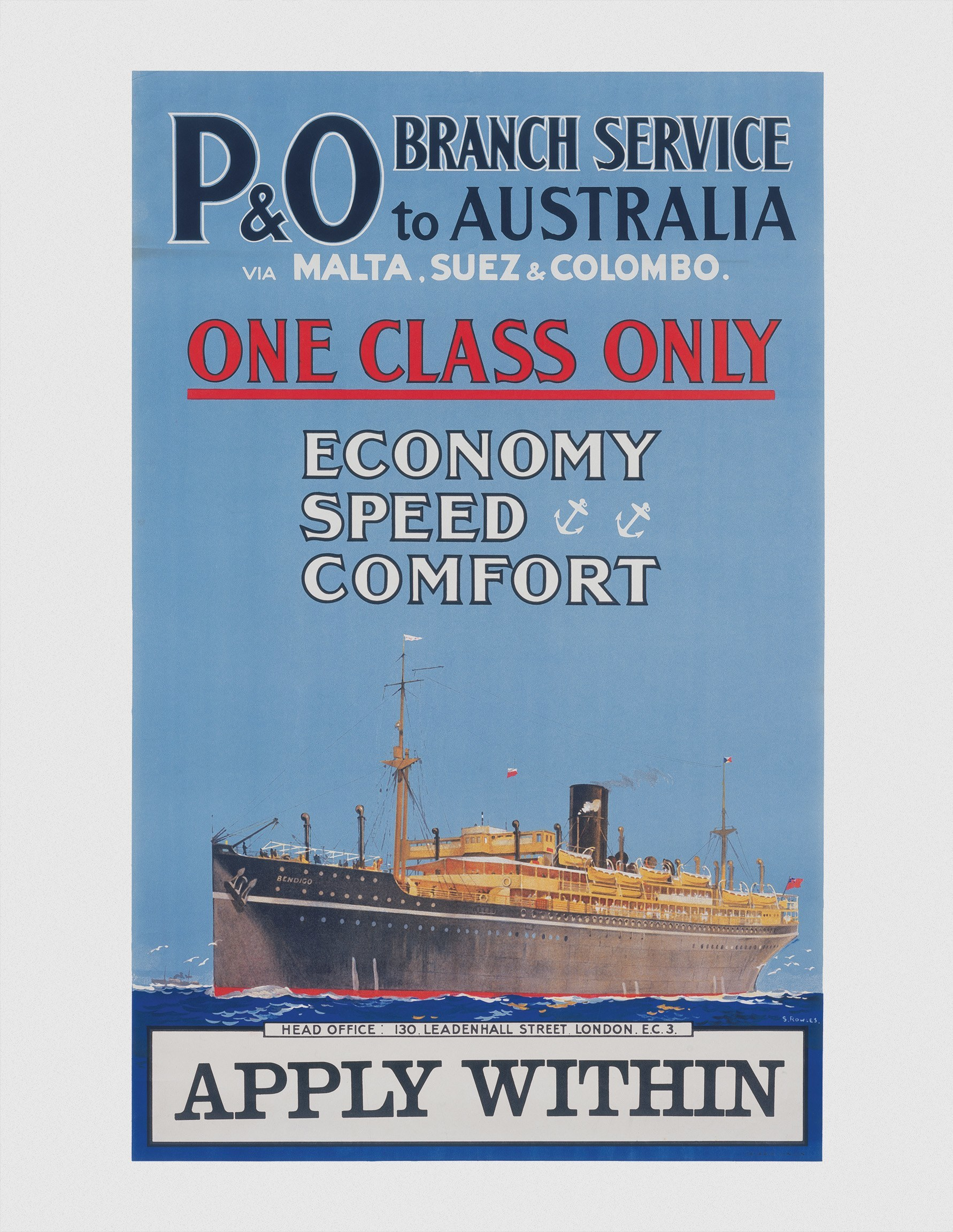 Original brochure for P&O's sailing schedules and 'Combination Tours', issued in 1914 b
