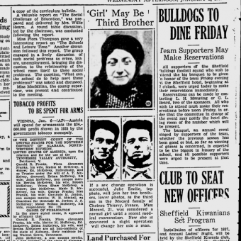 'Girl May Be Third Brother': In 1937 Julie Emilie Macard Became A Man