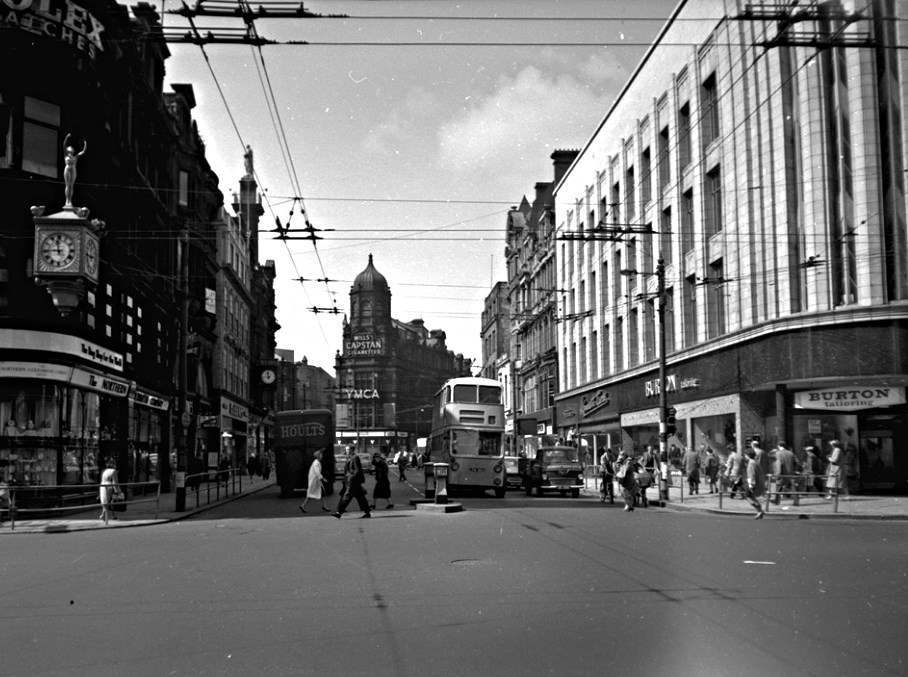 View of Blackett Street, Newcastle upon Tyne, May 1961.