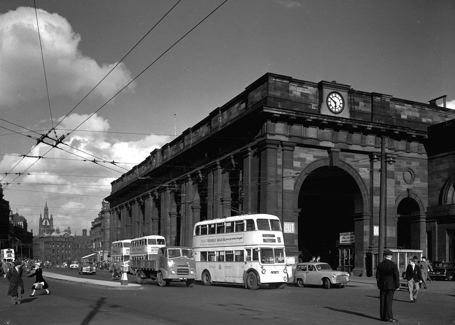 View of Central Station, Newcastle upon Tyne, May 1956.