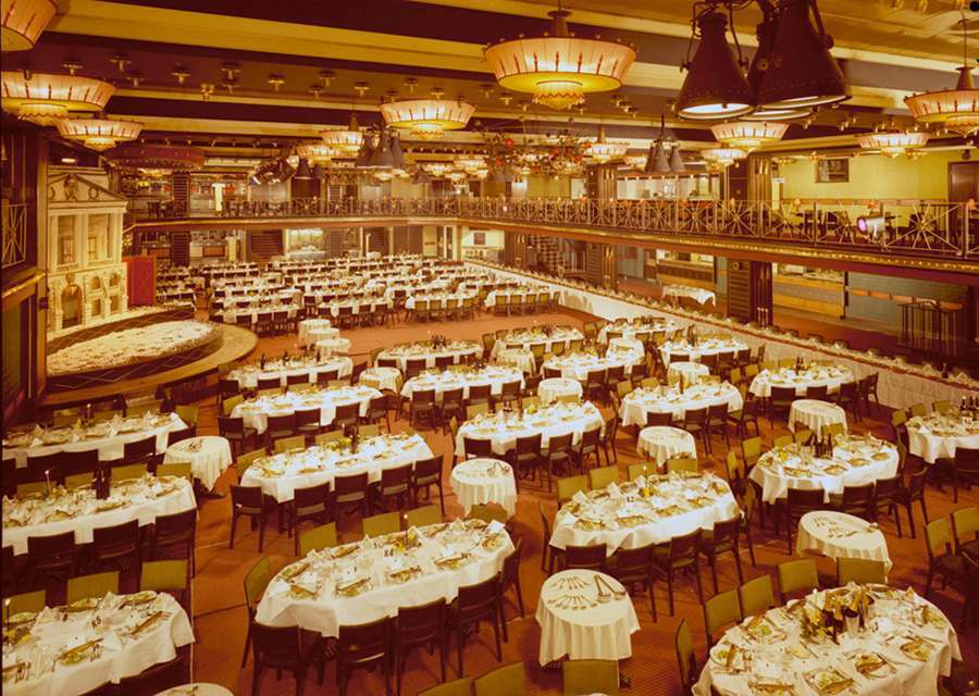 View of the interior of the Mayfair Ballroom, March 1963. The Mayfair Ballroom and Concert Hall was one of the most popular venue's in Newcastle-Upon-Tyne, hosting a rock club, which became the largest and longest-running of its kind in Europe. Situated on the corner of Newgate Street and Low Friar Street, it closed in 1999 to make way for a leisure complex, now known as The Gate.