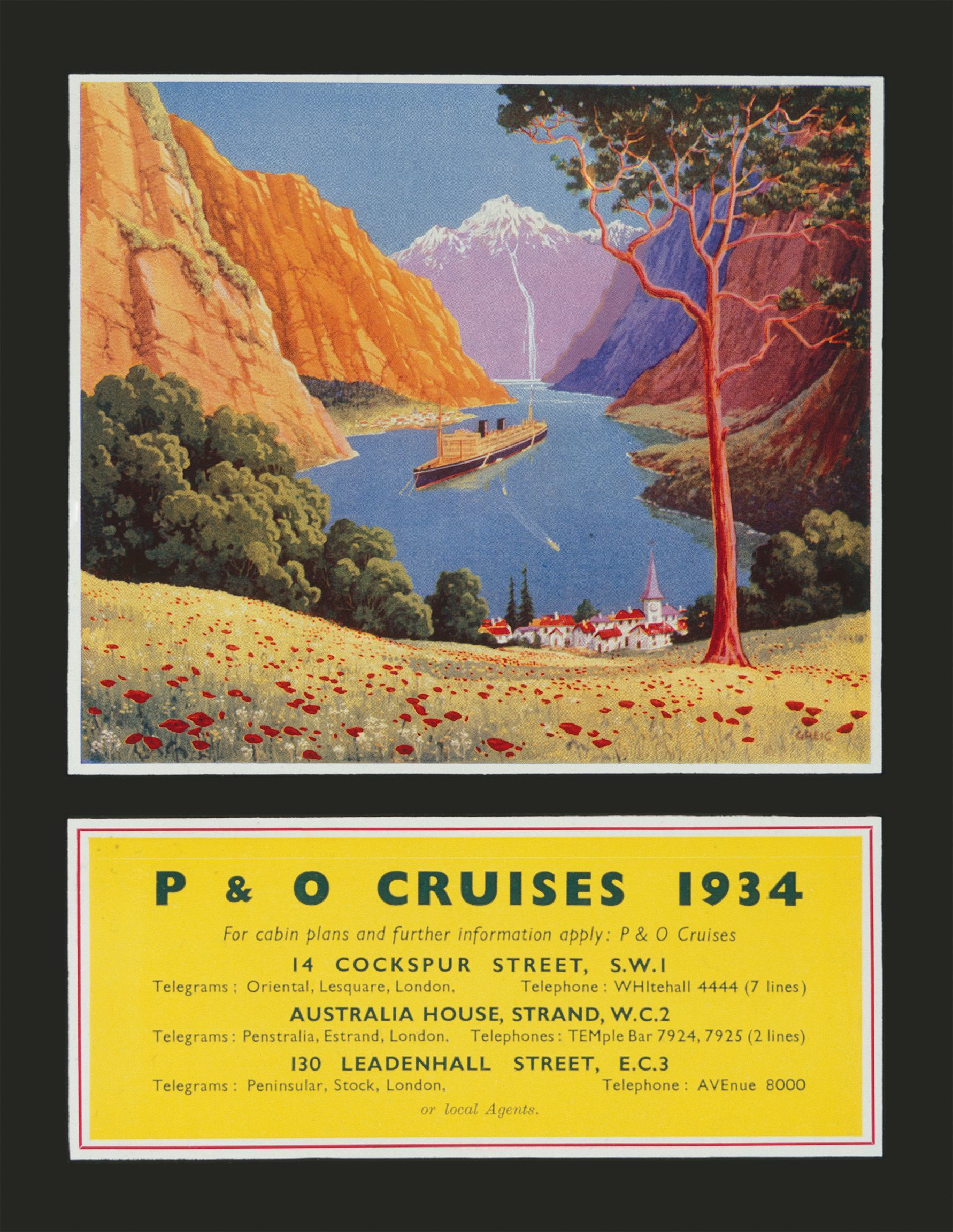 advertisement for P&O cruises to Norway published in The Blue Peter magazine in 1934