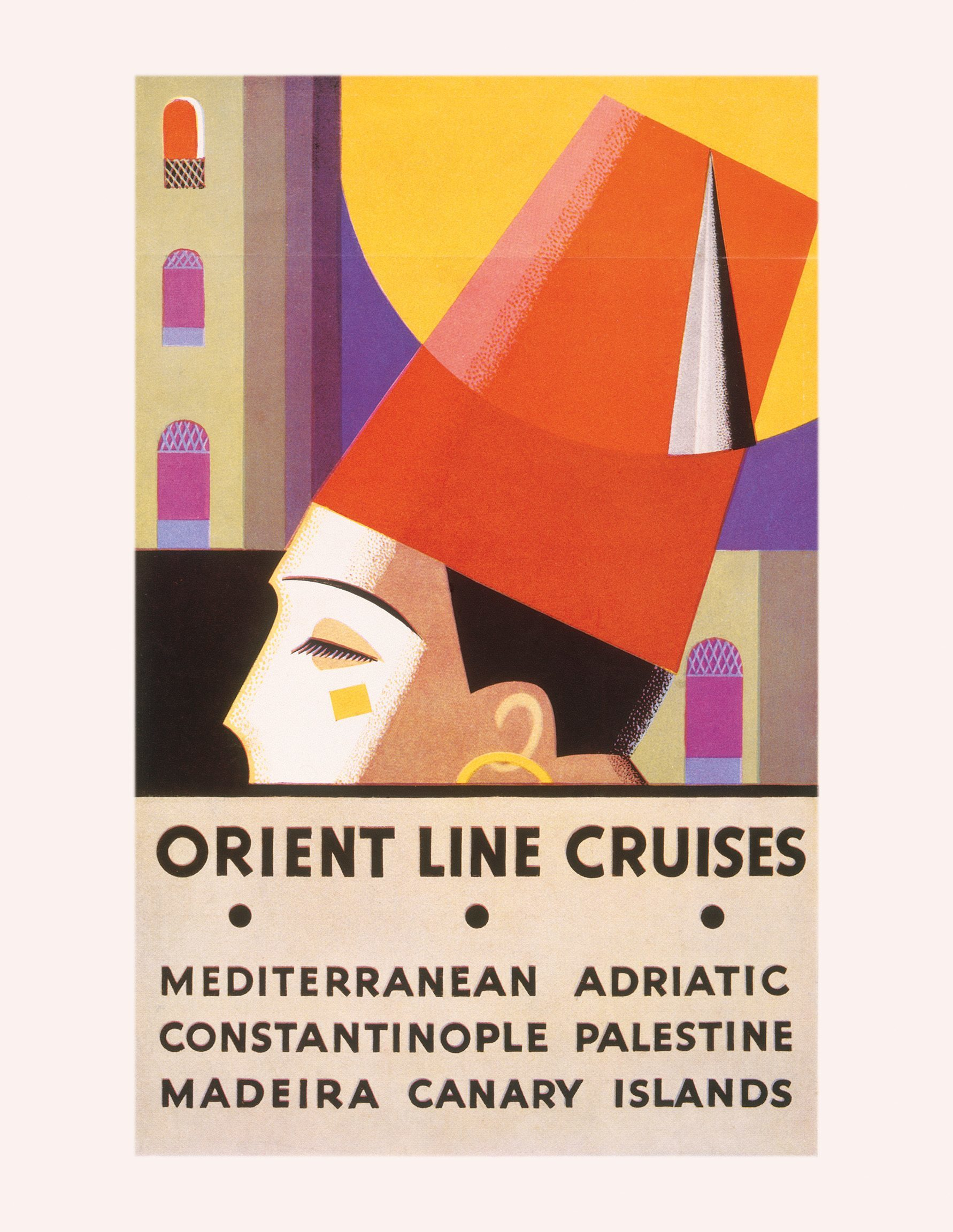 brochure for Orient Line cruises to the Mediterranean and beyond, printed in 1932