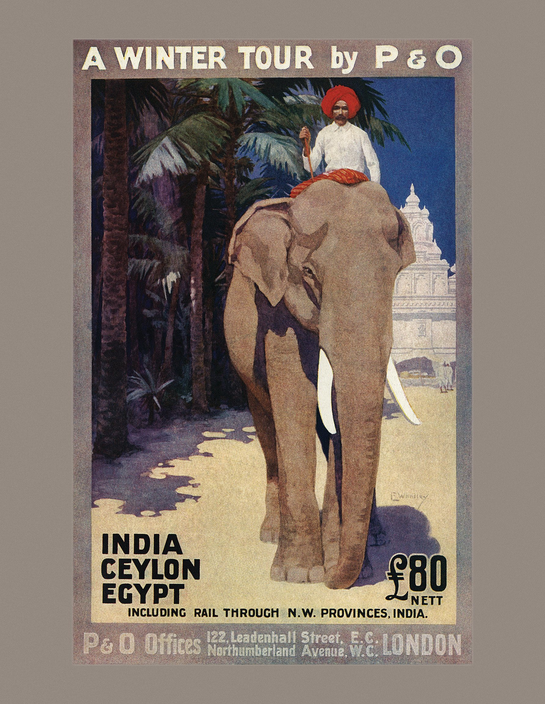 brochure for P&O services to India, Ceylon and Egypt, published in 1913. jpg