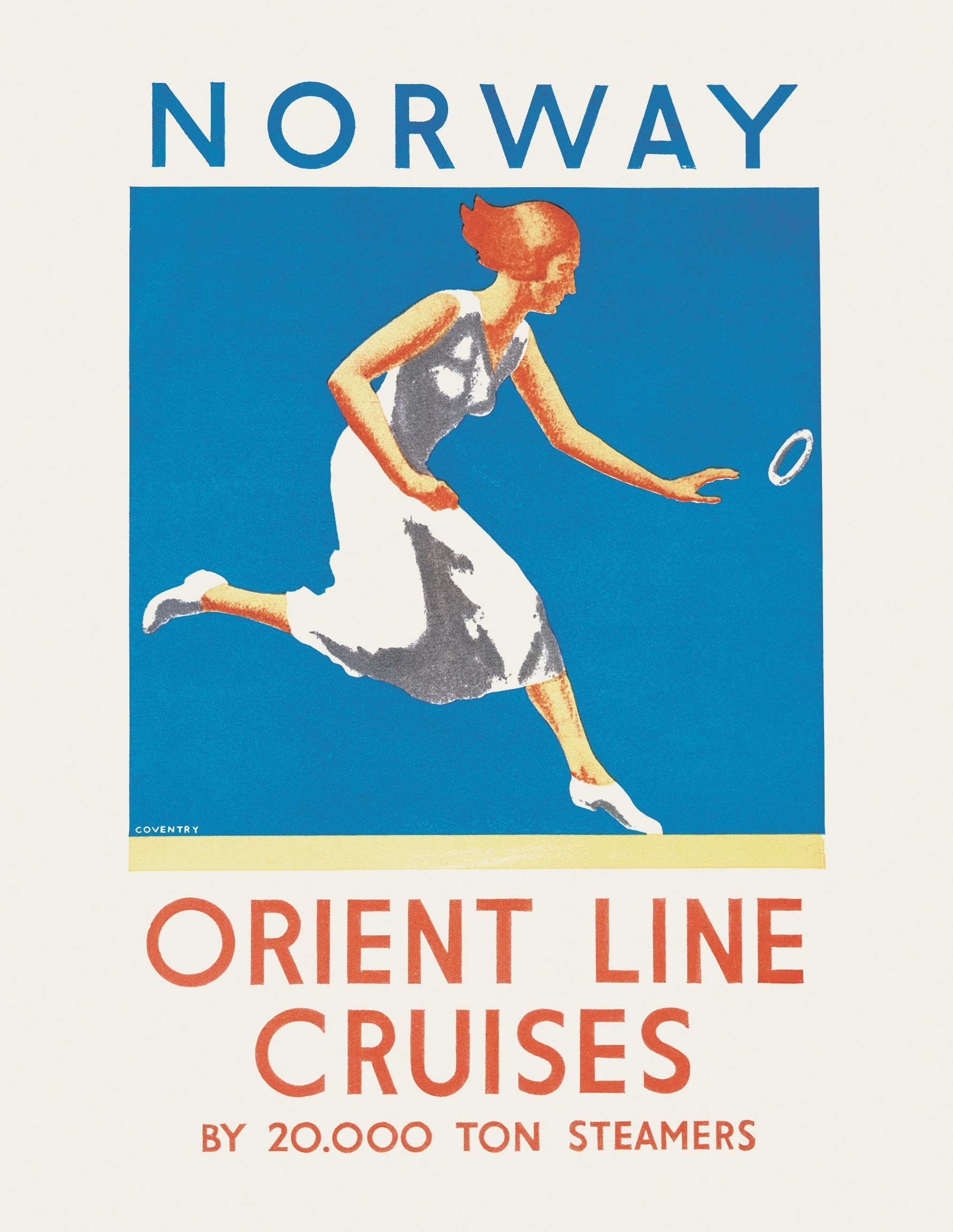 brochure for cruises to Norway on Orontes and Orford, printed in 1933
