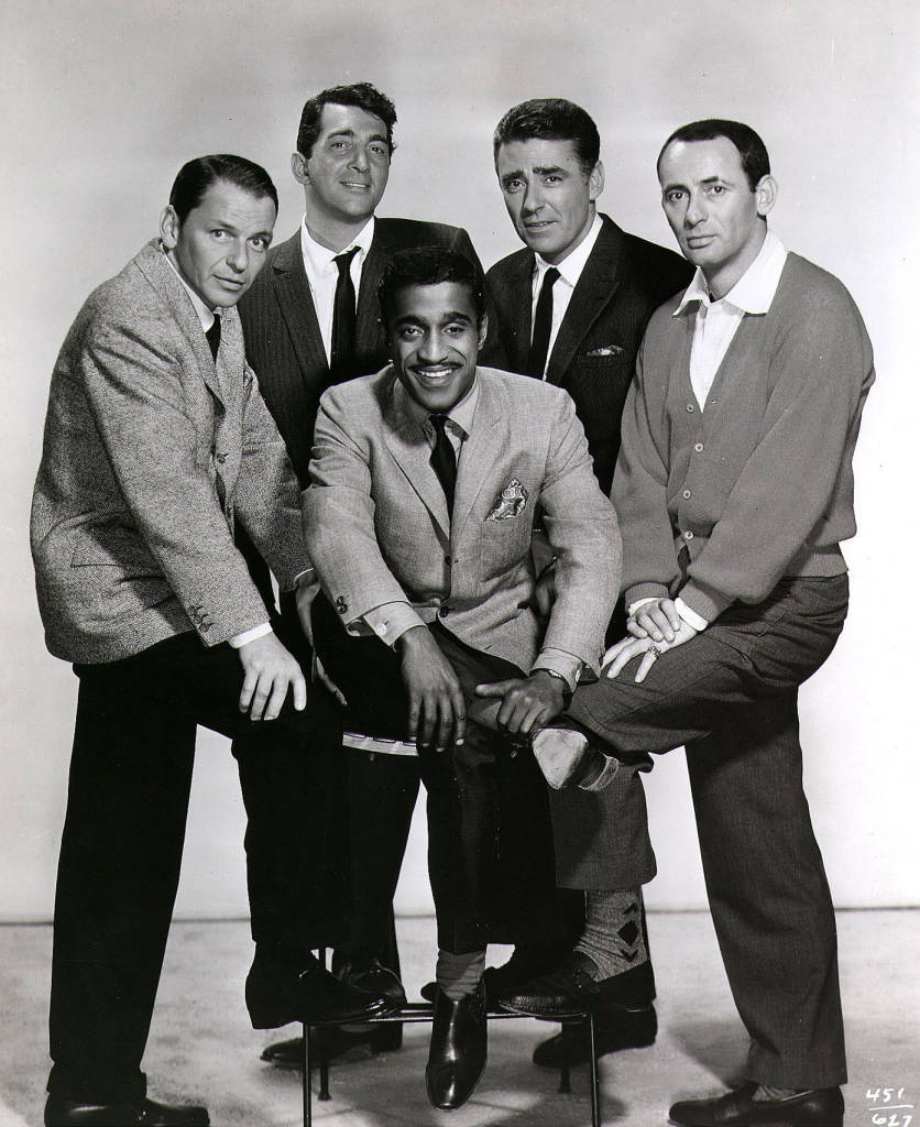 An undated promotional photo of the ''Rat Pack'', (from left)Frank Sinatra, Dean Martin, Sammy Davis Jr., Peter Lawford and Joey Bishop. (photo by Newsmakers)