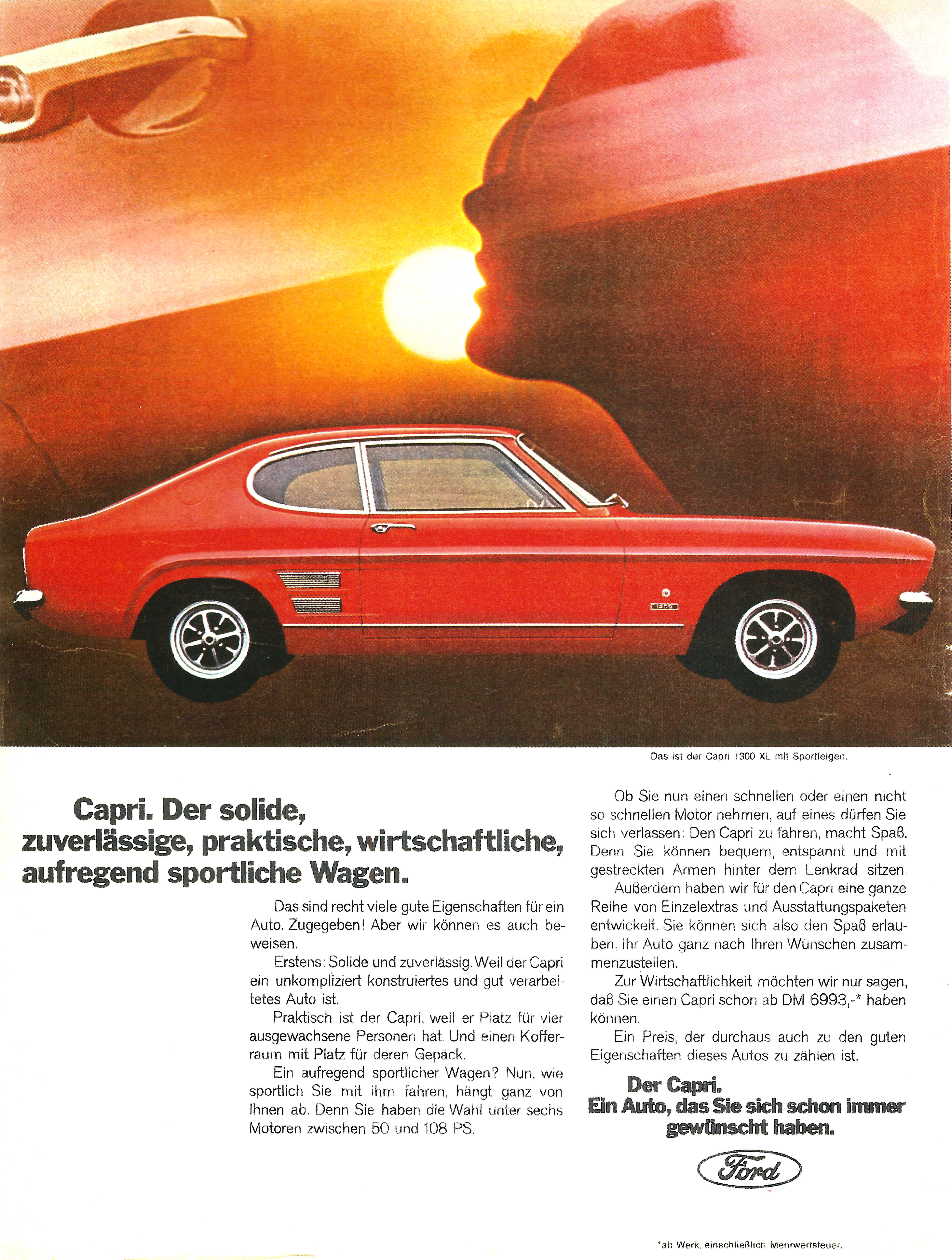 1969 Ford Capri 1300 XL (Germany)