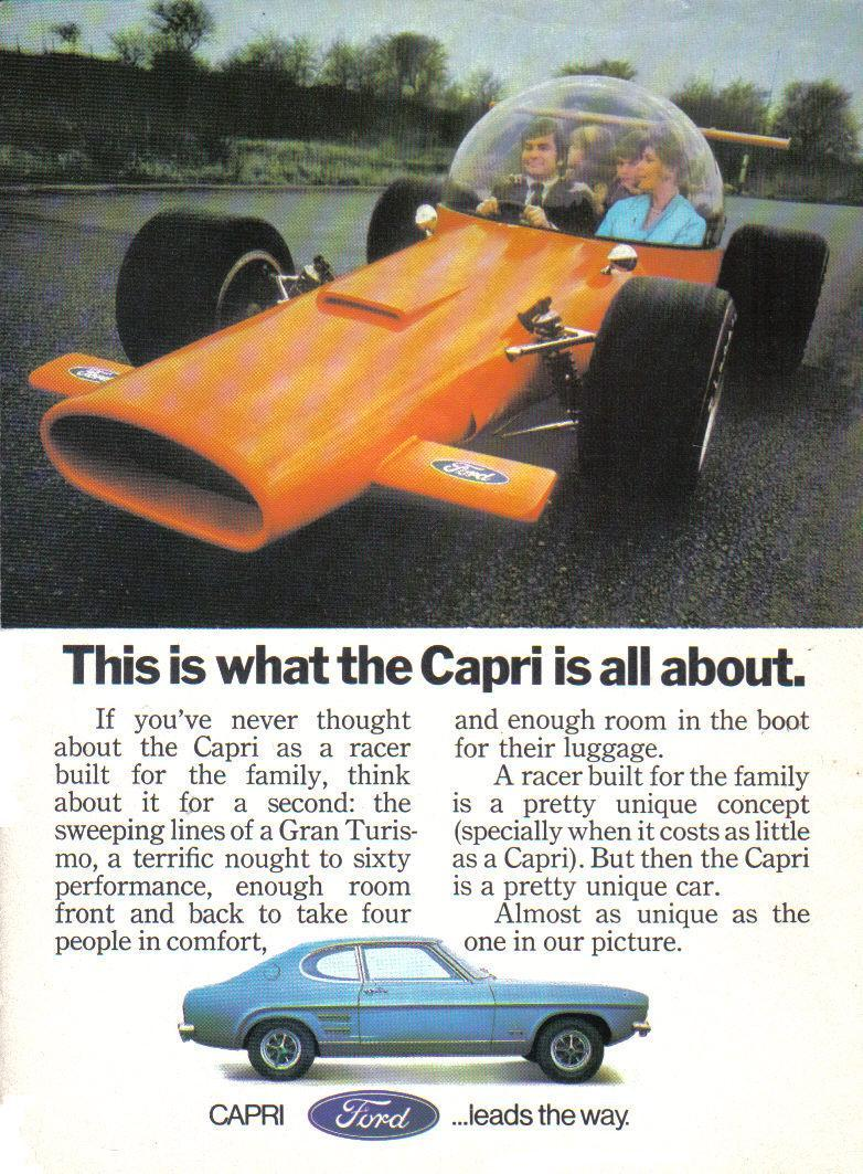1971 FORD CAPRI MK1 ADVERT