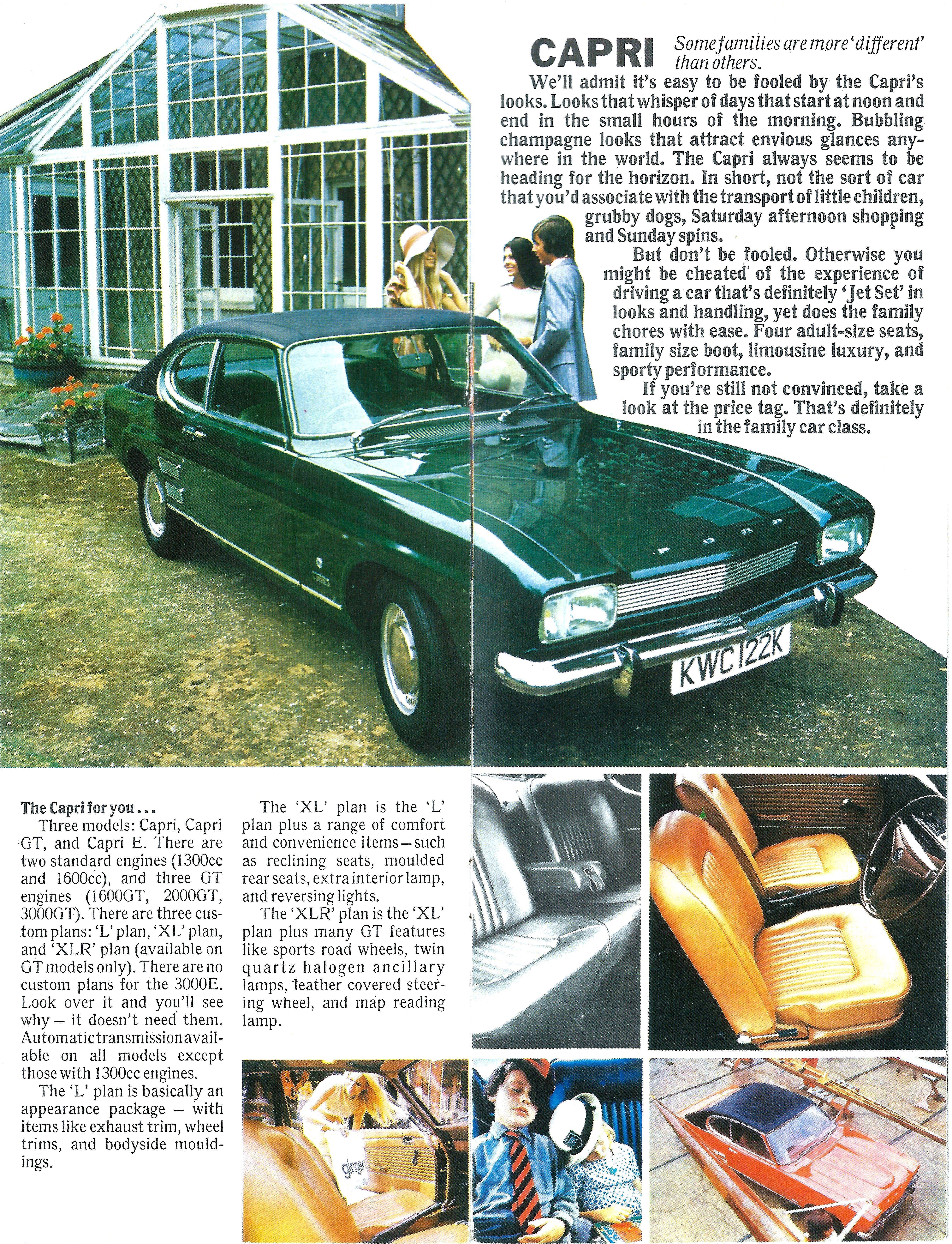 1972 Ford Capri 1600 XL (UK)