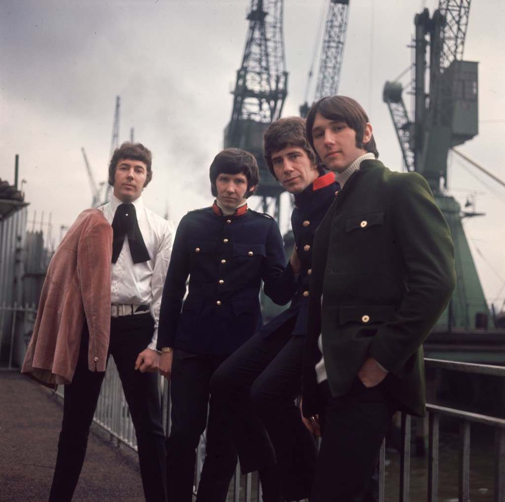 3rd February 1967:  British pop group the Tremeloes comprising of Rick West, Alan Blakely, Dave Munden and Len 'Chip' Hawkes.  (Photo by Caroline Gillies/BIPs/Getty Images)