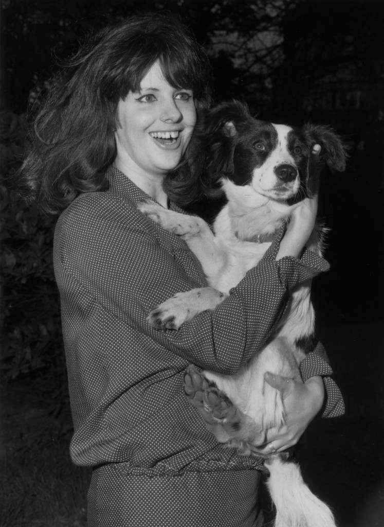 28th March 1966: Jeanne Corbett with Pickles, the dog that found the stolen Jules Rimet World Cup trophy when out for a walk with owner David Corbett in Norwood, south London, shortly before the World Cup in England. (Photo by Reg Speller/Fox Photos/Getty Images)