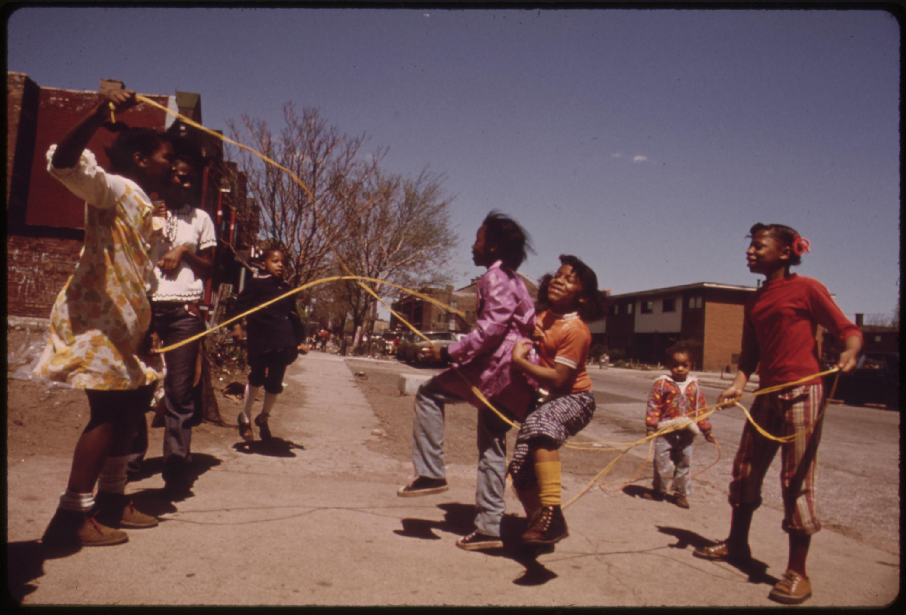 Black Children Play Outside The Ida B. Wells Homes, One Of Chicago's Oldest Housing Projects. There Are 1,652 Apartments Housing 5,920 Persons In 124 Buildings On The South Side, 05:1973 John H. White