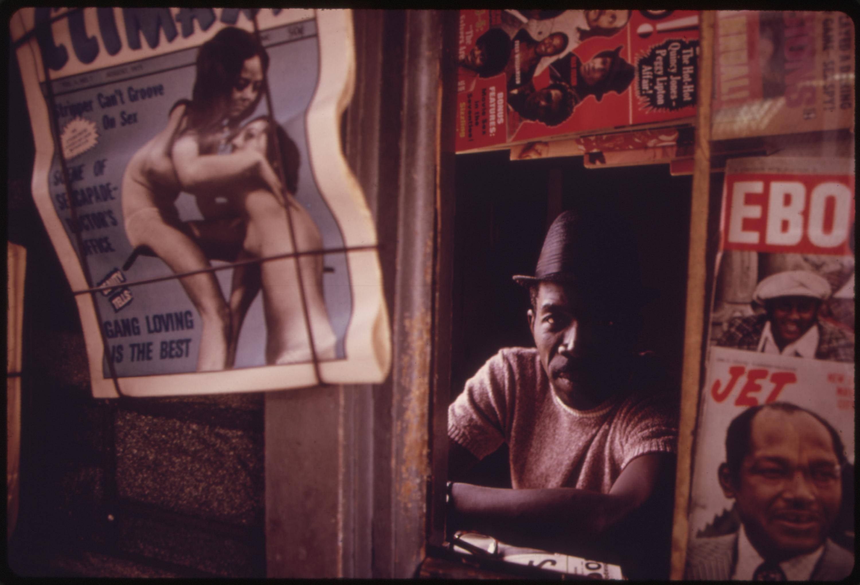 Black Man Operating A Newsstand In Chicago On The West Side The City Is Believed To Be The Black Business Capital Of The United States, 06:1973 John H. White