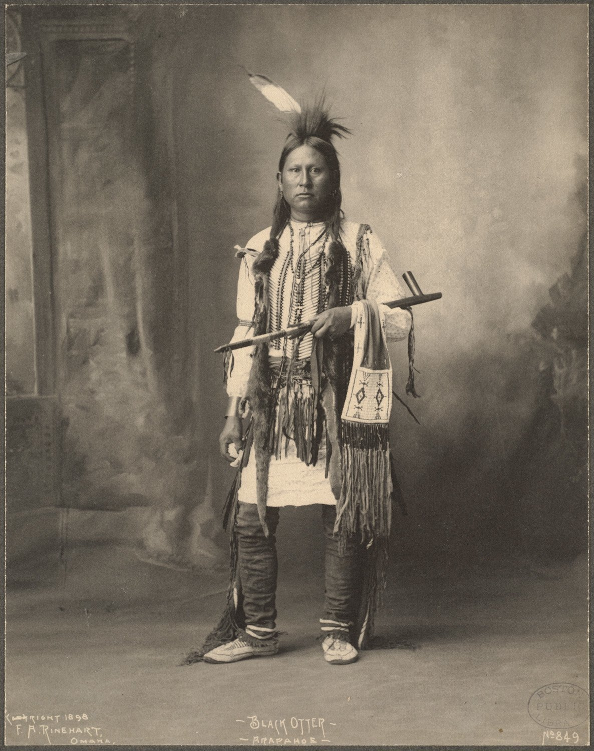 Black Otter, Arapahoe, 1899. (Photo by Frank A. Rinehart)