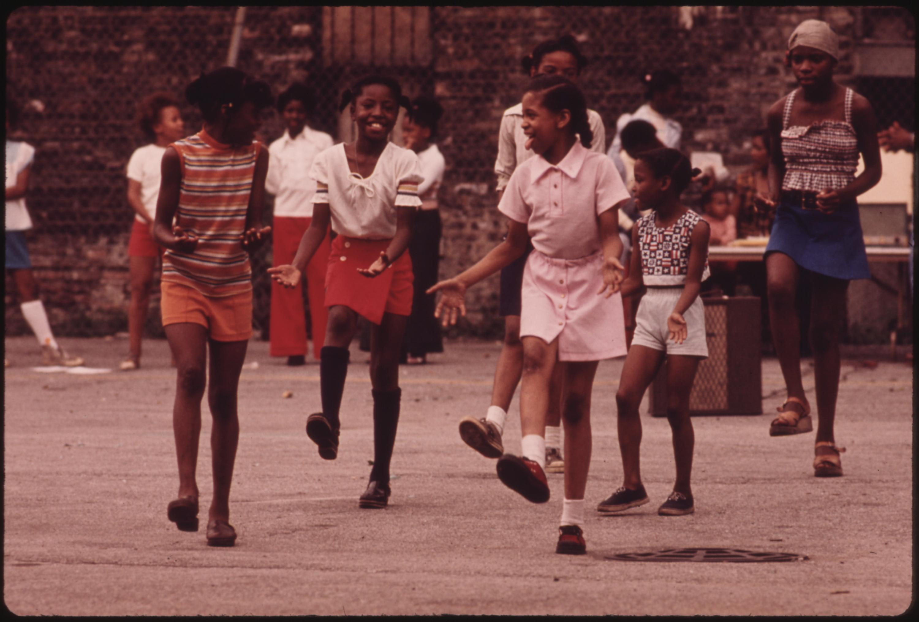 Black Youngsters Performing On An Empty Lot At 5440 South Princeton Avenue On Chicago's South Side, 08:1973 John H. White