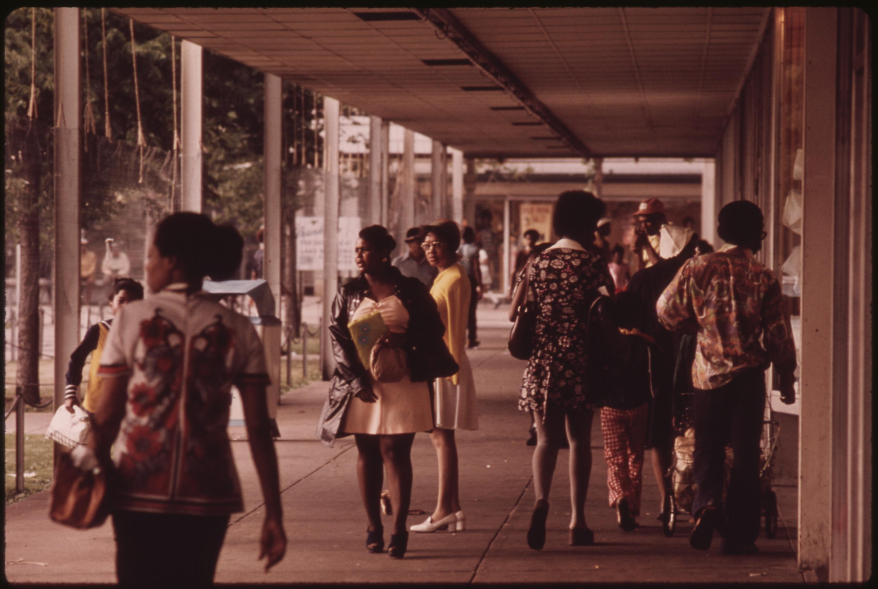 Blacks At Lake Meadows Shopping Center On Chicago's South Side, 06:1973