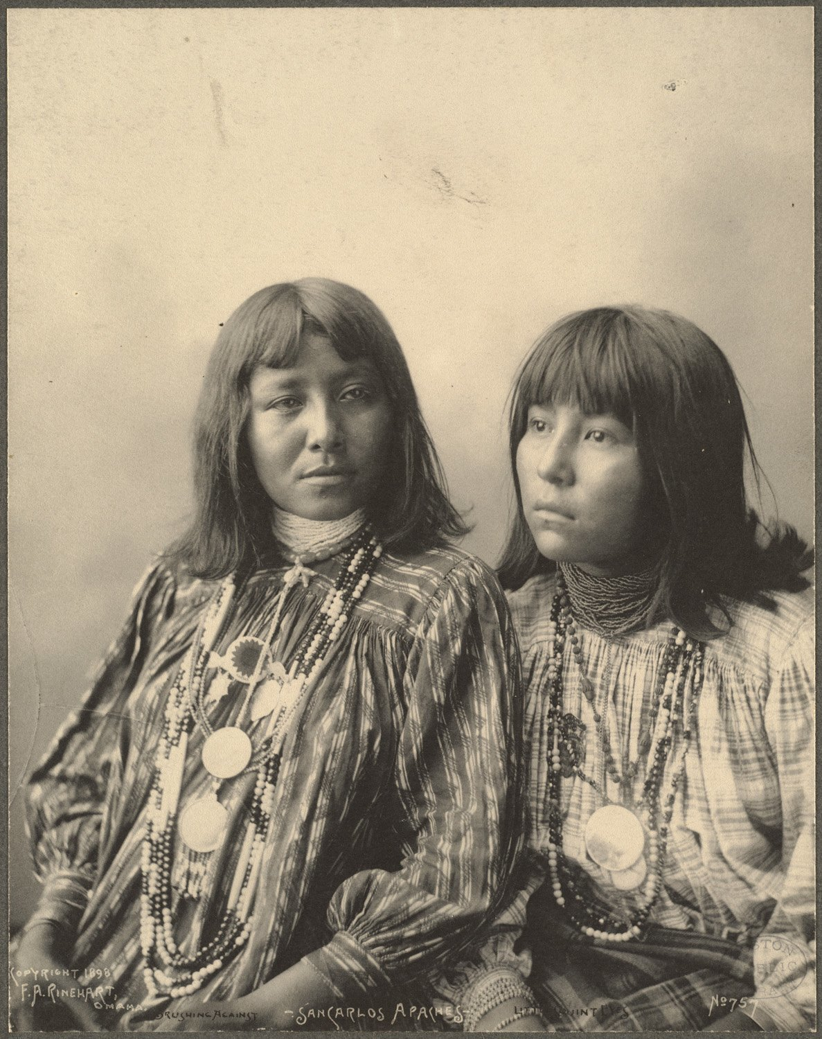 Brushing Against, Little Squint Eyes, San Carlos Apaches, 1899