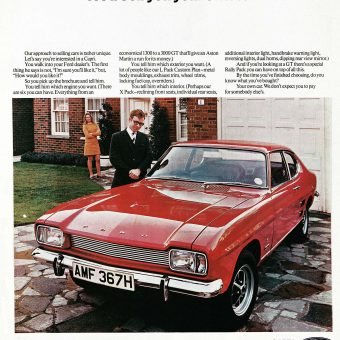 The Car You Always Promised Yourself – Ford Capri ads from 1969 -1986