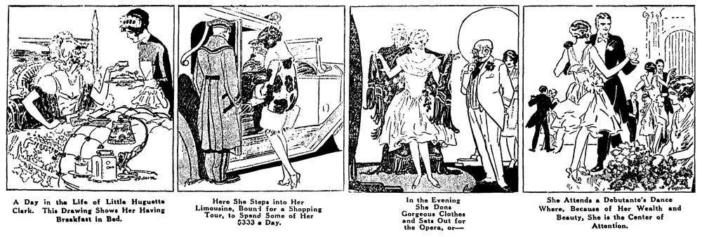 newspaper cartoon in 1928, when she was 21-22 years old.
