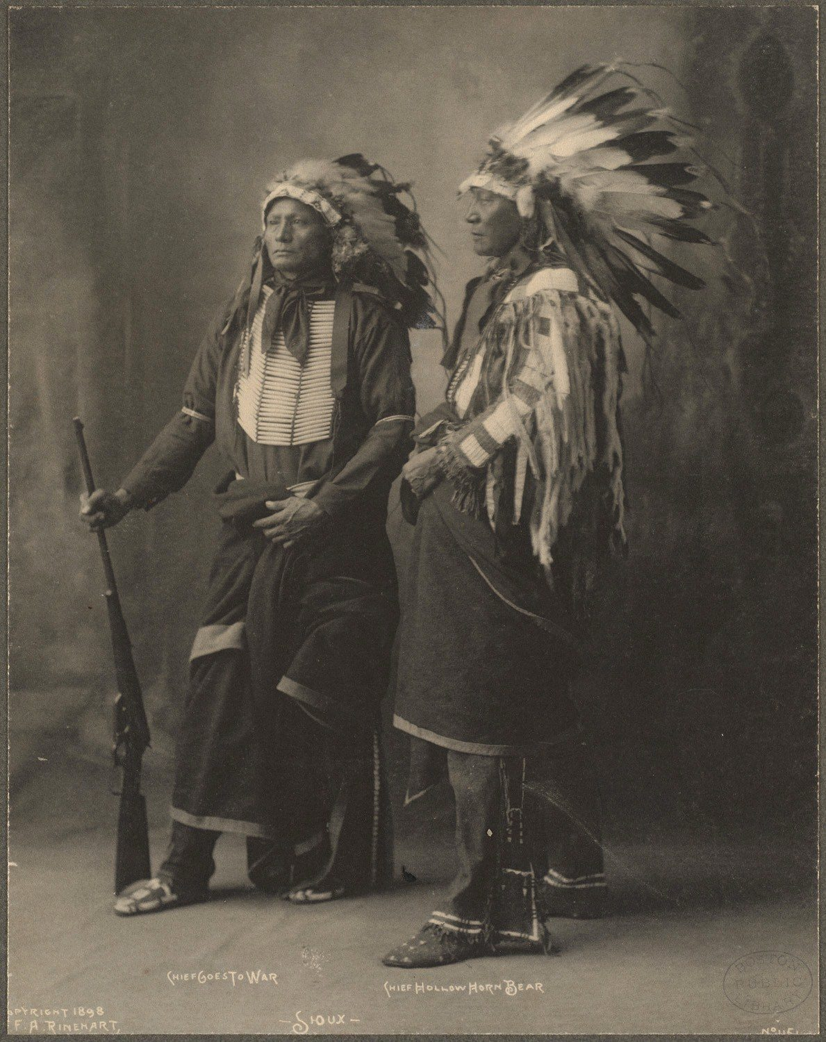 Chief Goes To War, Chief Hollow Horn Bear, Sioux, 1899