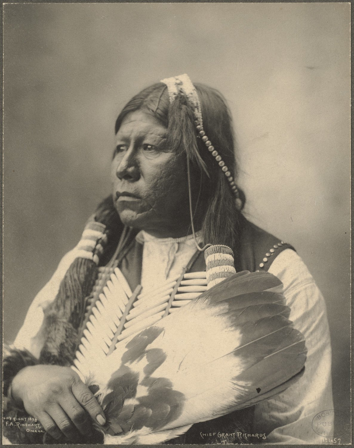 Chief Grant Richards, Tonkawa, 1899. (Photo by Frank A. Rinehart)