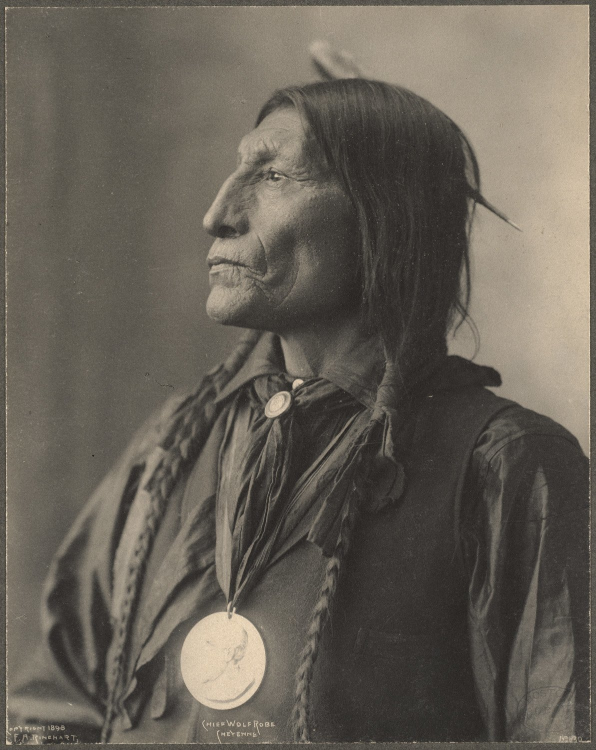 Chief Wolf Robe, Cheyenne, 1899. Photo by Frank A. Rinehart