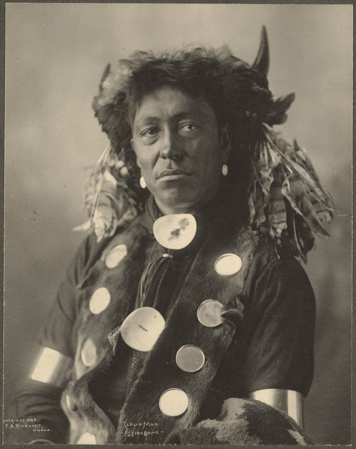 Cloud Man, Assinaboine, 1899. (Photo by Frank A. Rinehart)