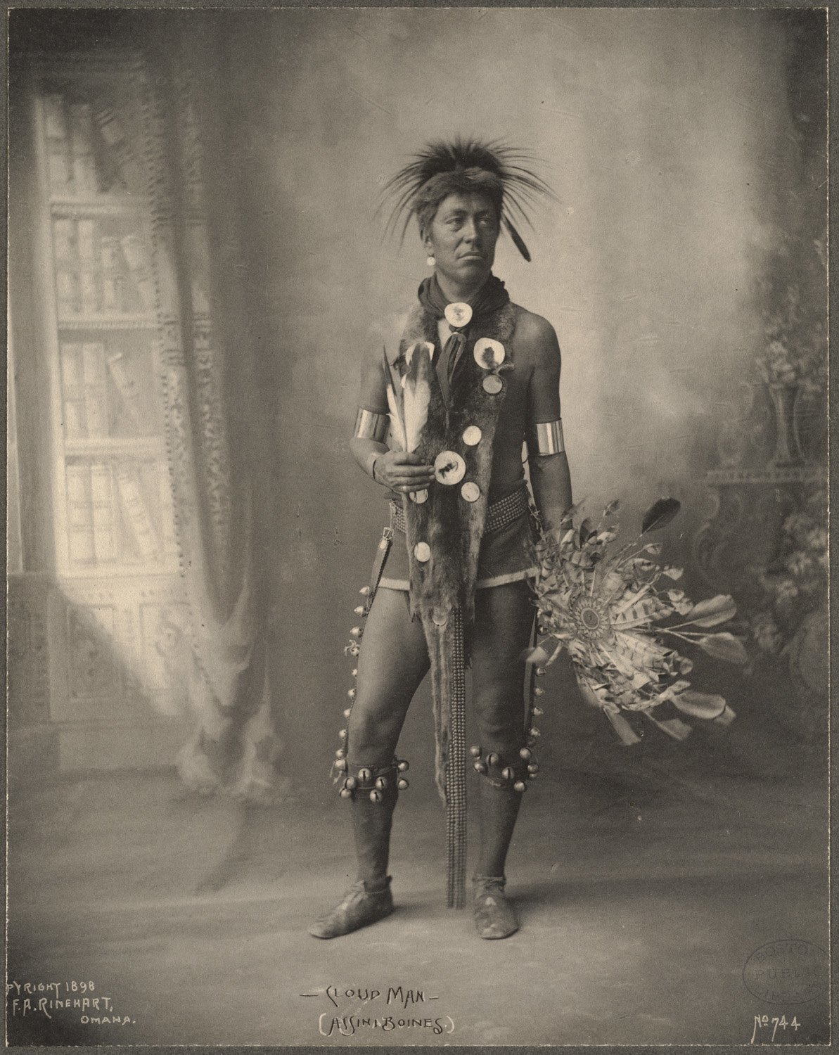 Cloud Man, Assinaboines, 1899. (Photo by Frank A. Rinehart)