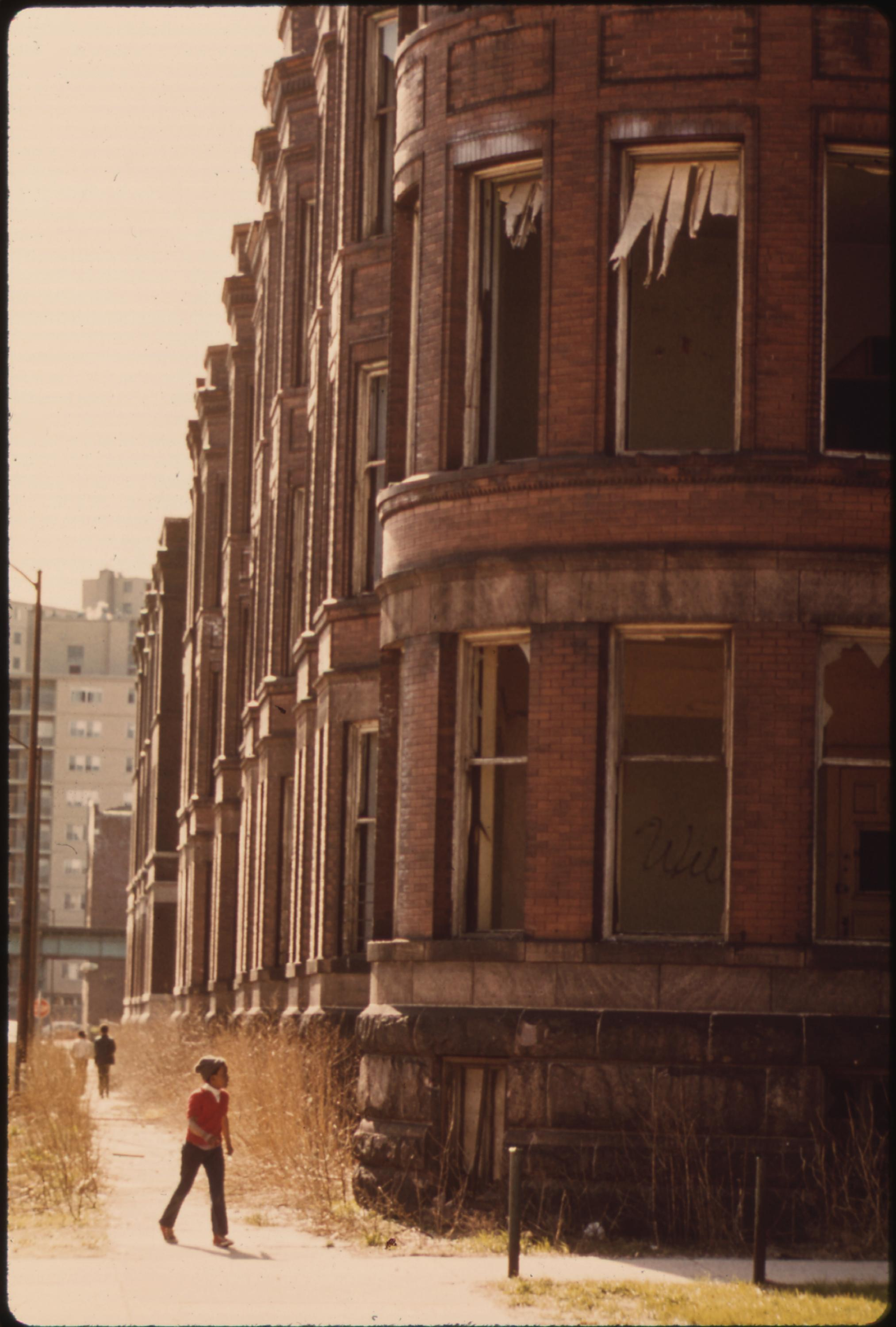 Empty Housing In The Ghetto On Chicago's South Side Structures Such As This Have Been Systematically Vacated As A Result Of Fires, Vandalism Or Failure By Owners To Provide Basic Tenant Services, 05:1973 John H. White