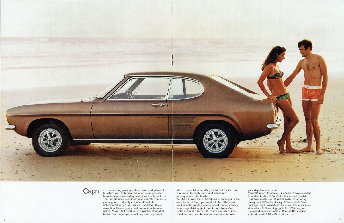 The Car You Always Promised Yourself Ford Capri Ads From 1969 1986 Flashbak