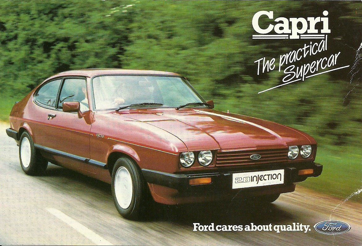 Ford Capri 2.8i Ford Ad Card  SP186 Oct 1984