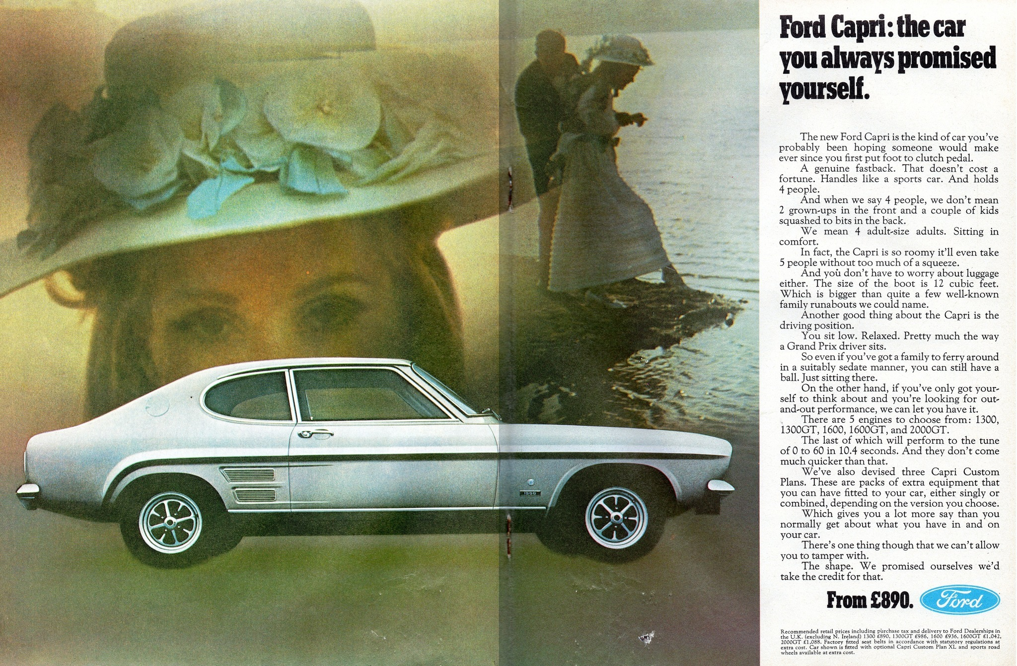 Ford Capri Mk1 Advert 1969